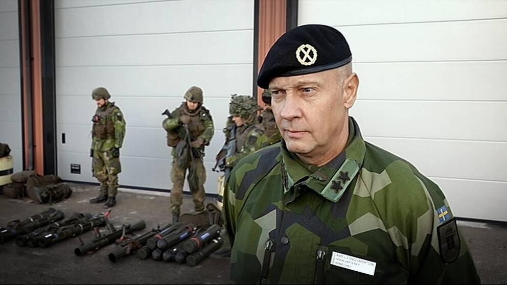 Karl Engelbrektson, arméchef i Försvarsmakten.