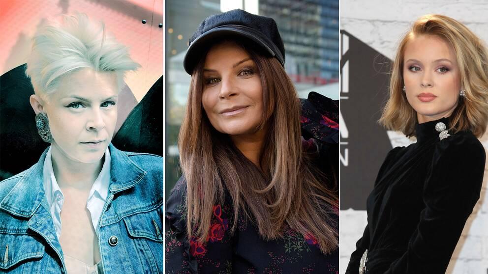 Robyn, Carola och Zara Larsson