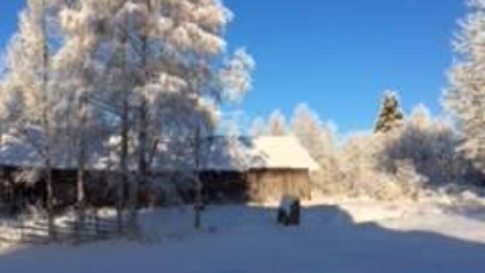 Sett Från vår farstukvist, i byn Latikberg södra Lappland.