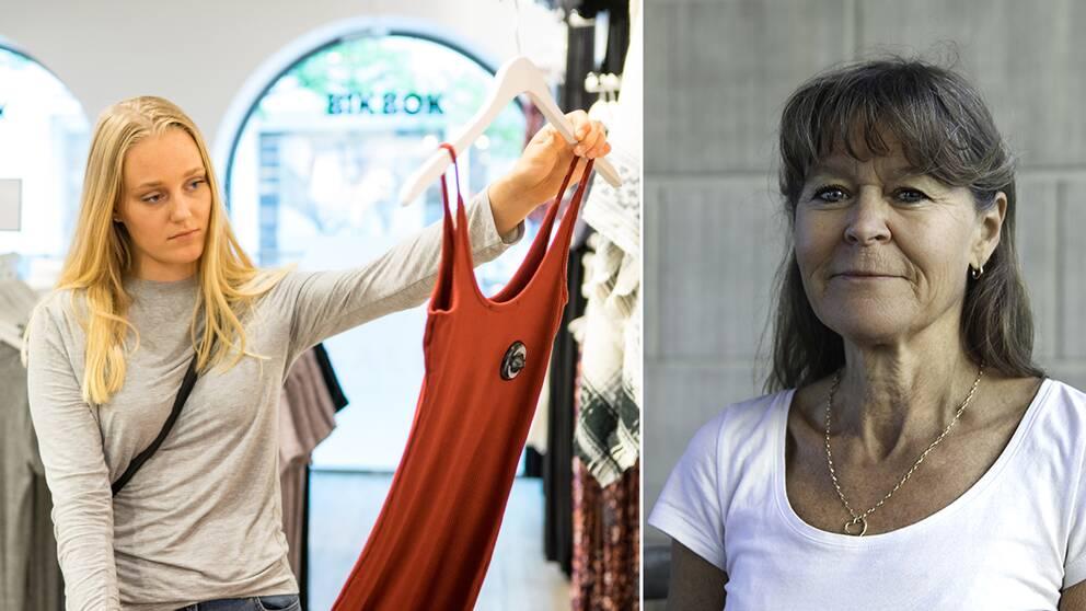 Till höger Maria Wiezell, expert i konsumenträtt och konsumentjuridik vid Sveriges konsumenter.