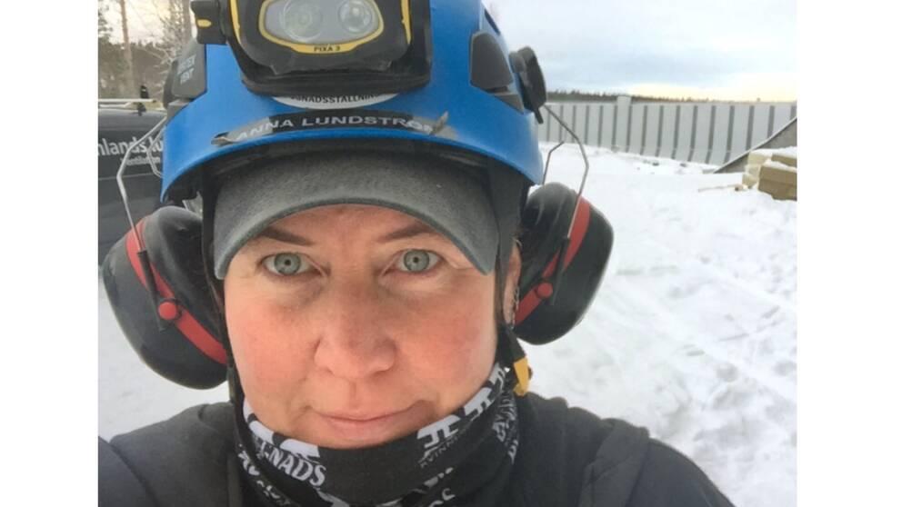Anna Lundström från Gävle har arbetat i 22 år som ställningsmontör i byggbranschen.Hon är aktiv i Byggnads kvinnliga nätverk.