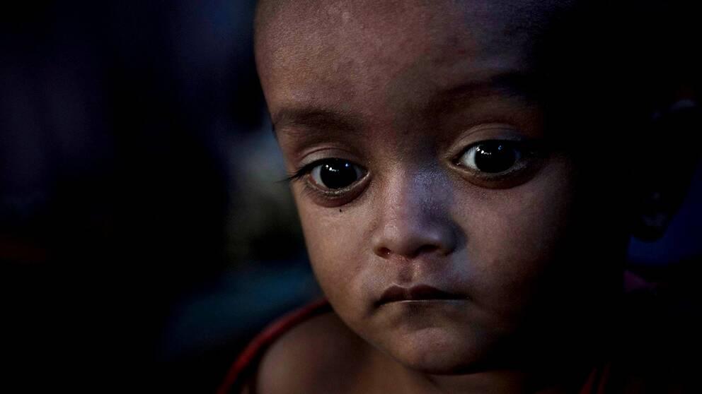 Ett Rohingya-barn från Burma blir ofta inte officiellt anmält som saknat.