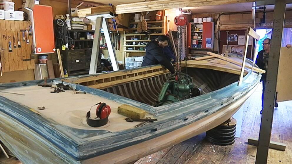 I maj ska båten vara helt färdig
