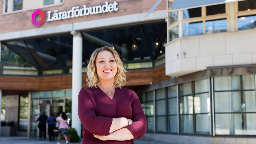Johanna Jaara Åstrand ordförande i Lärarförbundet.