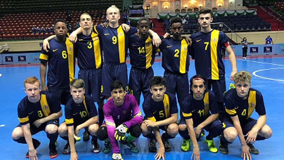 U18-VM i futsal: Sverige vann mot Indonesien
