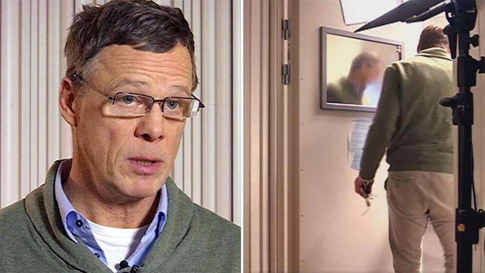 Martin Strid lämnar mitt under intervjun med SVT.