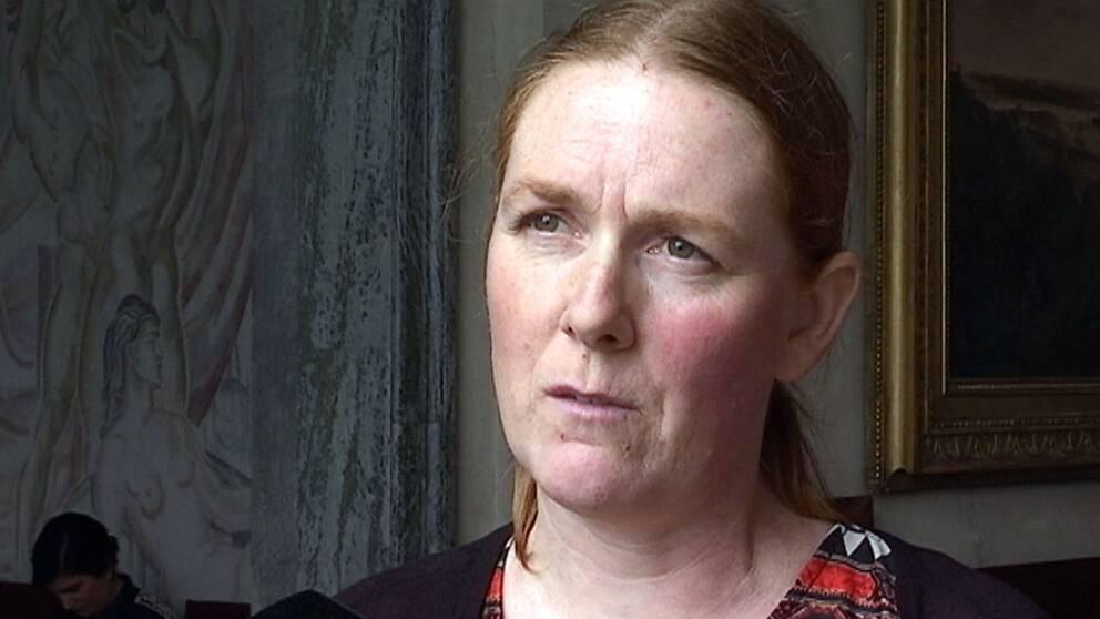 Kinna Skoglund, talesperson för nätverket #vistårinteut.