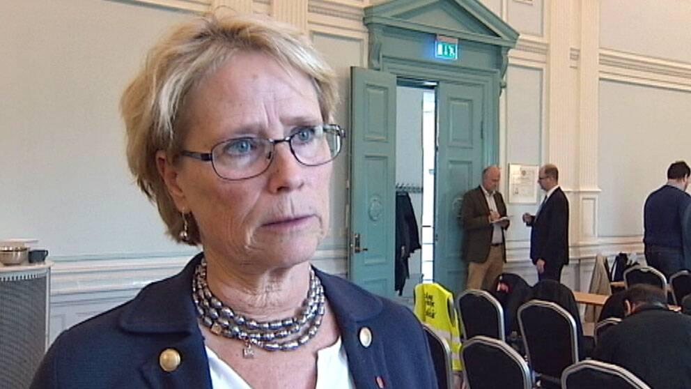 Christine Axelsson (S) var ordförande i regionfullmäktige.