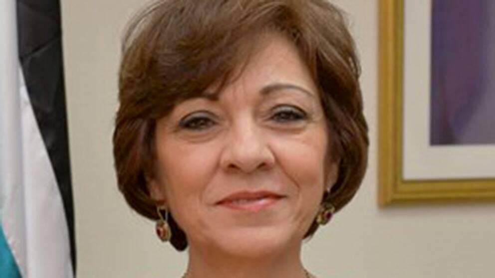 Palestinas Sverigeambassadör Hala Husni Fariz.