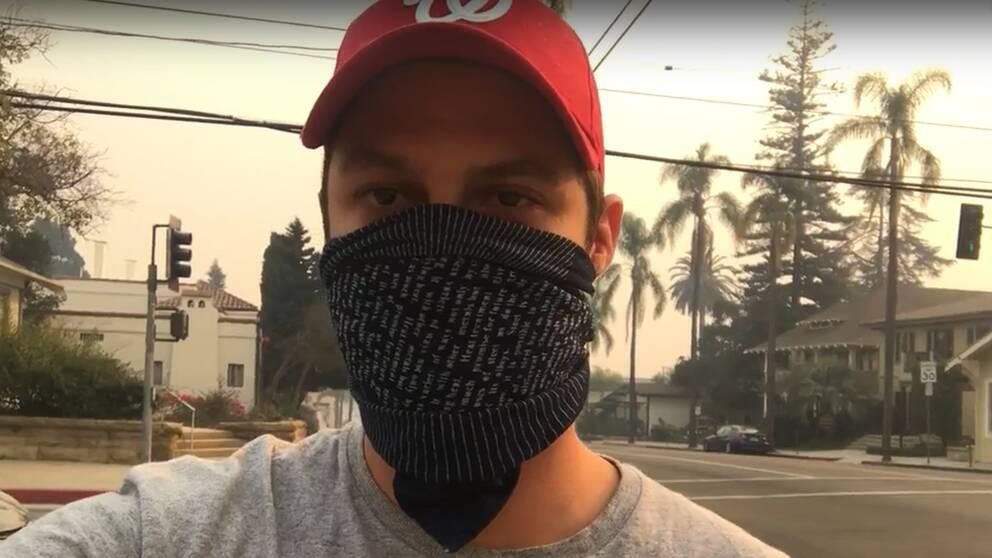 Chakib Youcefi, som bor i Santa Barbara, inväntar besked om evakuering från myndigheterna.