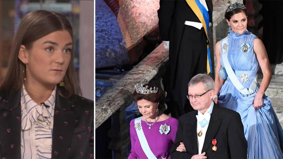 Linn Eklund och drottningen och kronprinsessan