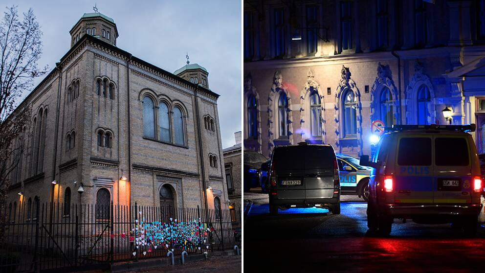 Tre anhållna efter dåd mot synagoga