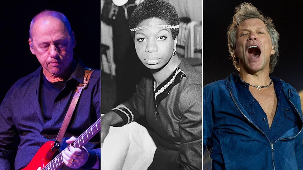 Mark Knopfler, Nina Simone och Jon Bon Jovi.