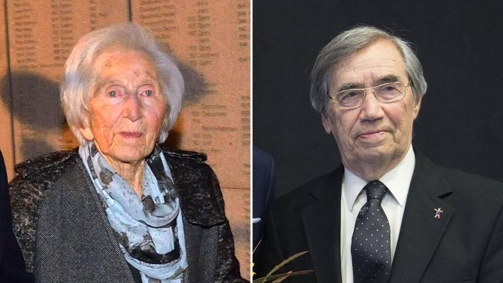 Författaren och psykologen Hédi Fried och författaren Emerich Roth.