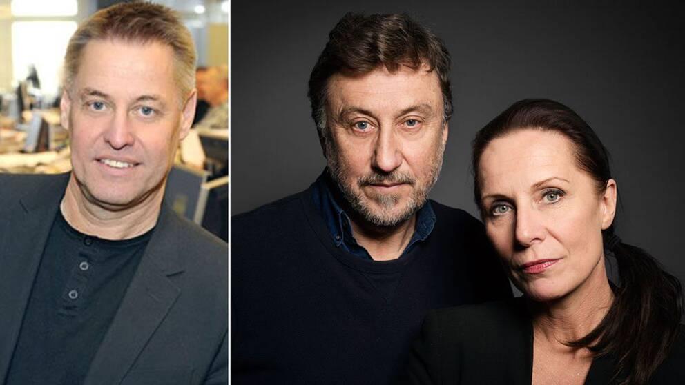 Till vänster: Ulf Johansson. Till höger: Uppdrag gransknings Janne Josefsson and Karin Mattisson