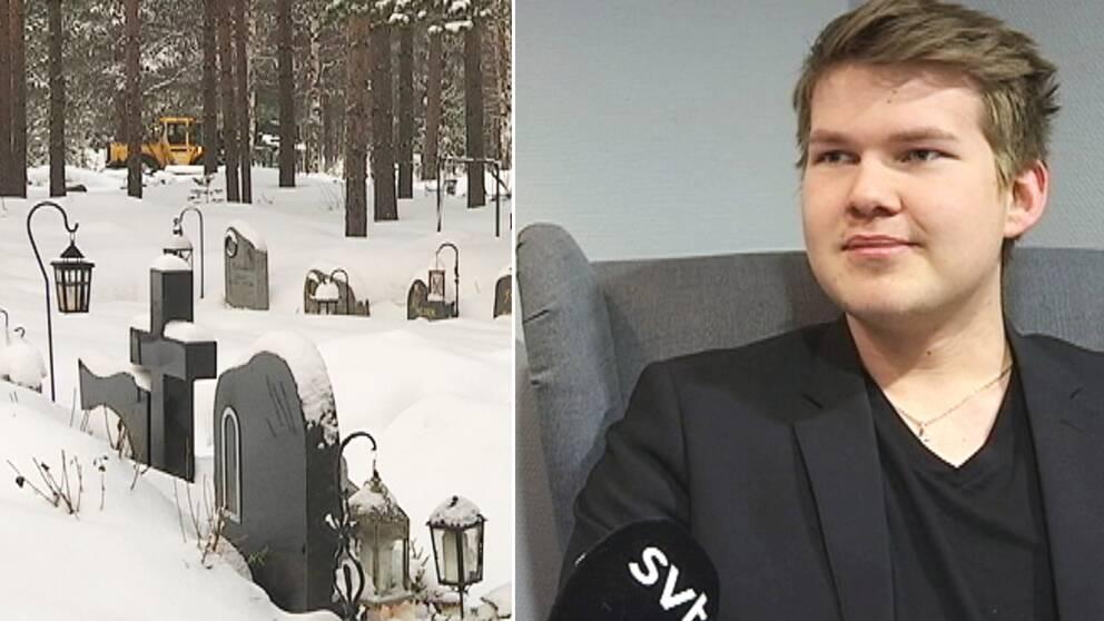 Lins Häggström, 19 år. öppnar en egen begravningsbyrå.
