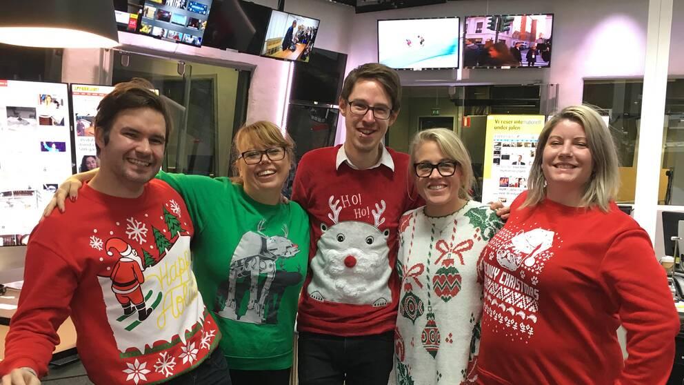 Även vi på redaktionen kör på jultröjor idag!