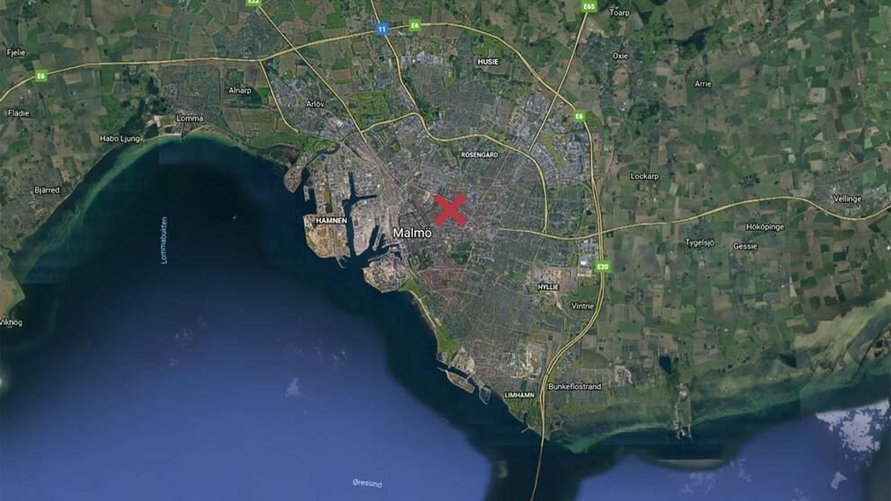 Våldtäkten ska ha skett utomhus i stadsdelen Sofielund.