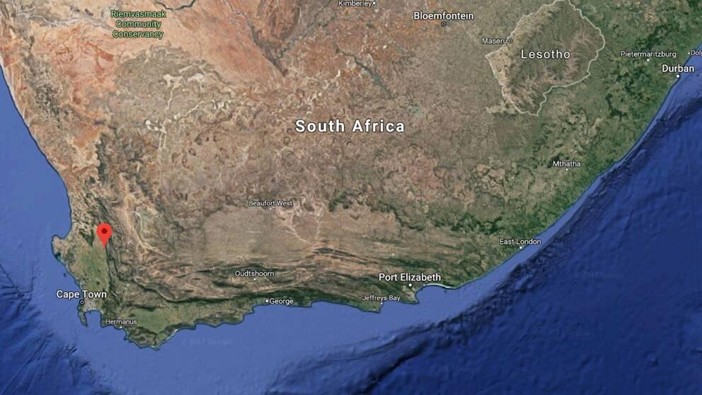 Porterville, norr om Kapstaden i Sydafrika.