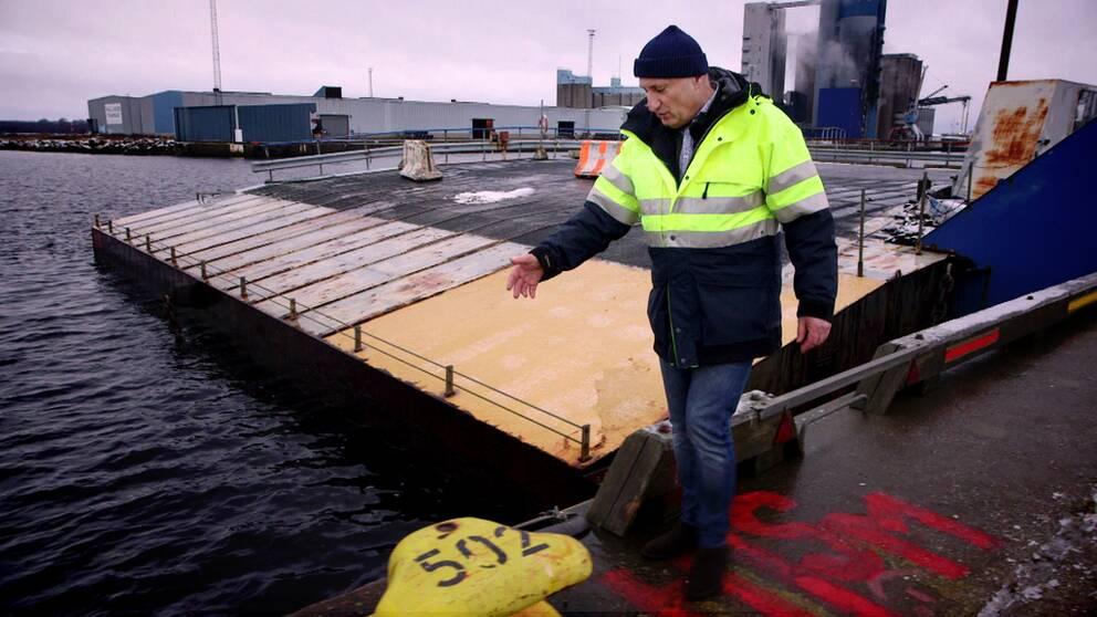 Christer Green är teknisk chef på Hallands hamnar.