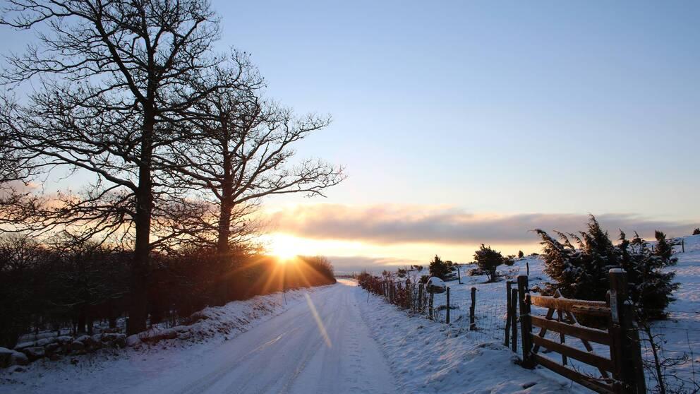 Soluppgång vid Fjärås Bräcka