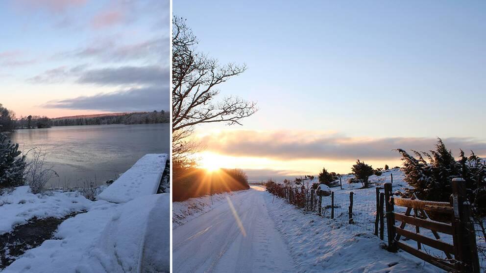 vinterbilder från Halland