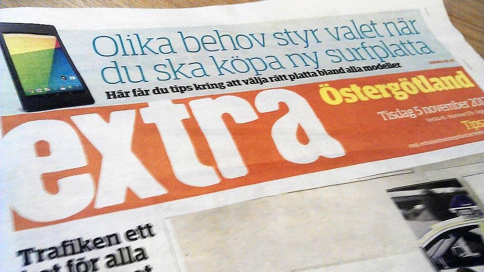 Gratistidningen Extra Östergötland blir tredagarstidning