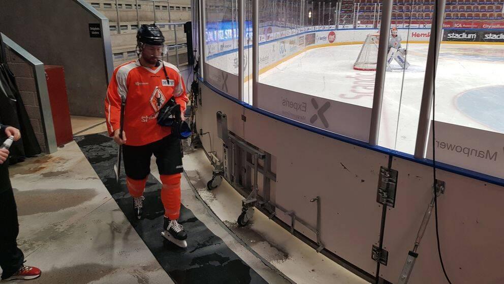 Per Ledin under ett av sina träningspass med KHK.
