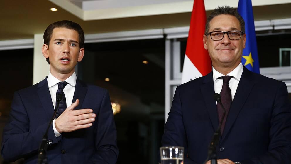 Den nye förbundskanslern i Österrike heter Sebastian Kurz och vicekansler är Heinz-Christian Strache, ledare för det högernationalistiska partiet FPÖ.