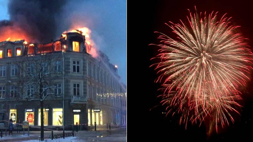 Fyrverkerifritt nyår i Arvika efter branden för två år sedan.