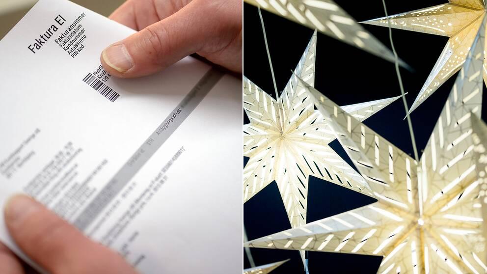 Elförbrukning elräkning belysning julbelysning