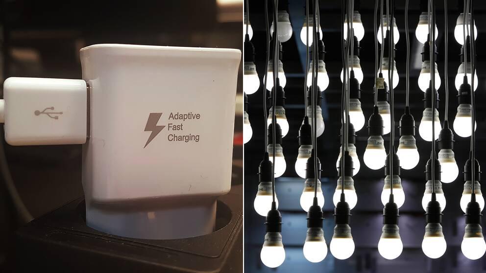 Mobilladdare lampor belysning