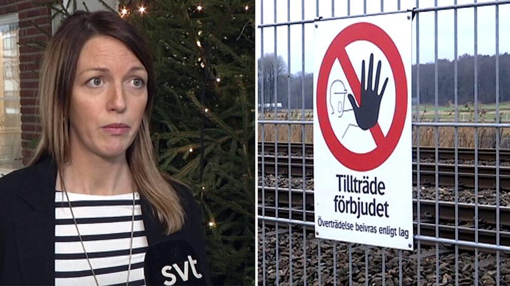 Veronika Gustafsson, presskommunikatör på Trafikverket.