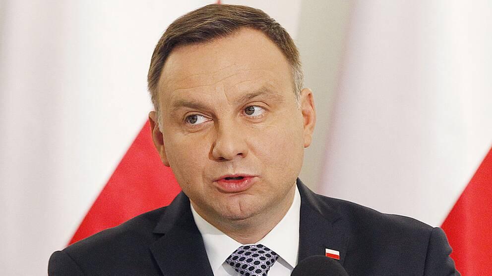 Polens president Andrzej Duda kan spela en nyckelroll i konflikten om rättsfrågan eftersom han kan godkänna eller förkasta lagförslag.