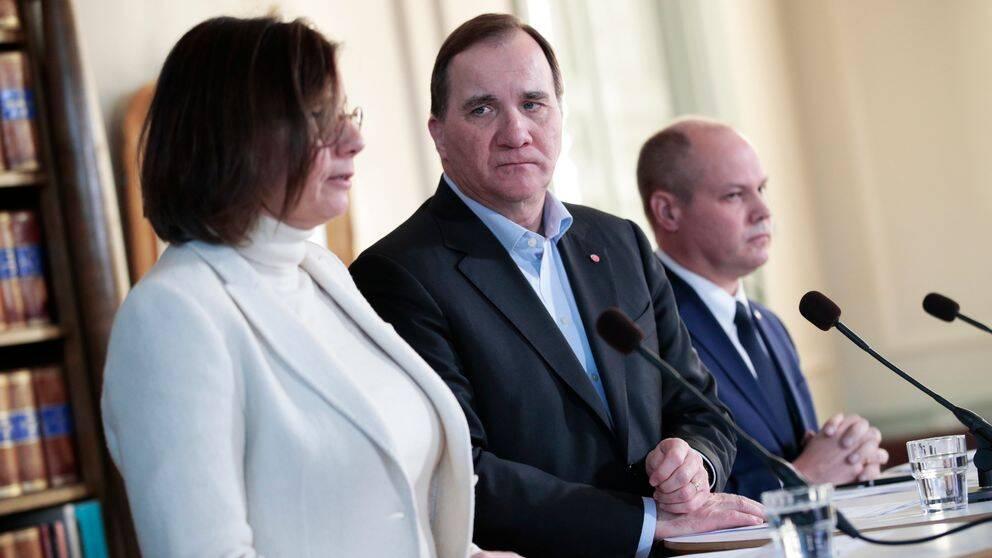 Vice statsminister Isabella Lövin (MP) och statsminister Stefan Löfven (S).