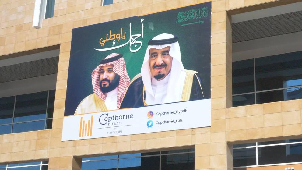 Kung Salman och kronprins Mohammed bin Salman.