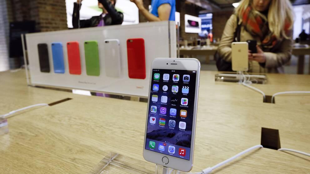 Äldre Iphone-modeller går långsammare.