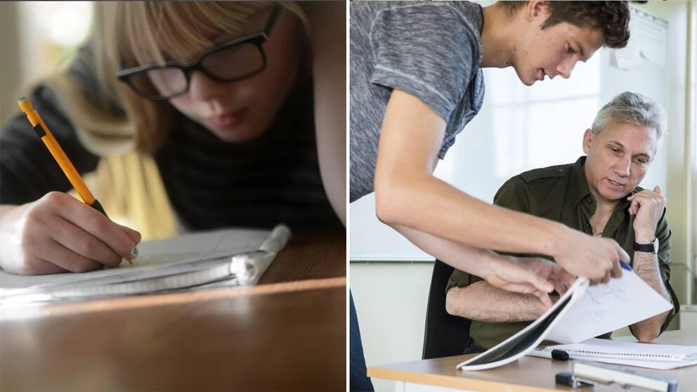 Nu halveras antalet nationella prov i gymnasiet – för att minska stressen som lärare och elever känner. Arkivbild.