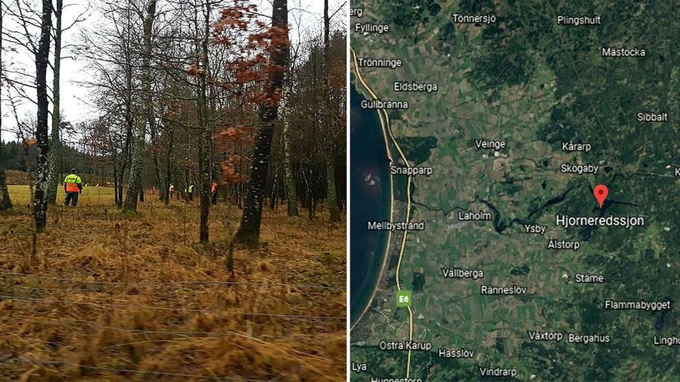 På nyårsdagen återupptog polisen sökandet efter en försvunnen kvinna i Laholms kommun.