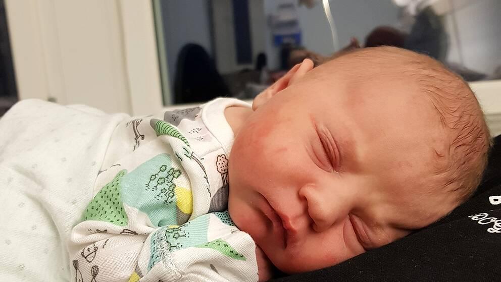 Här är Hallands första bebis 2018.