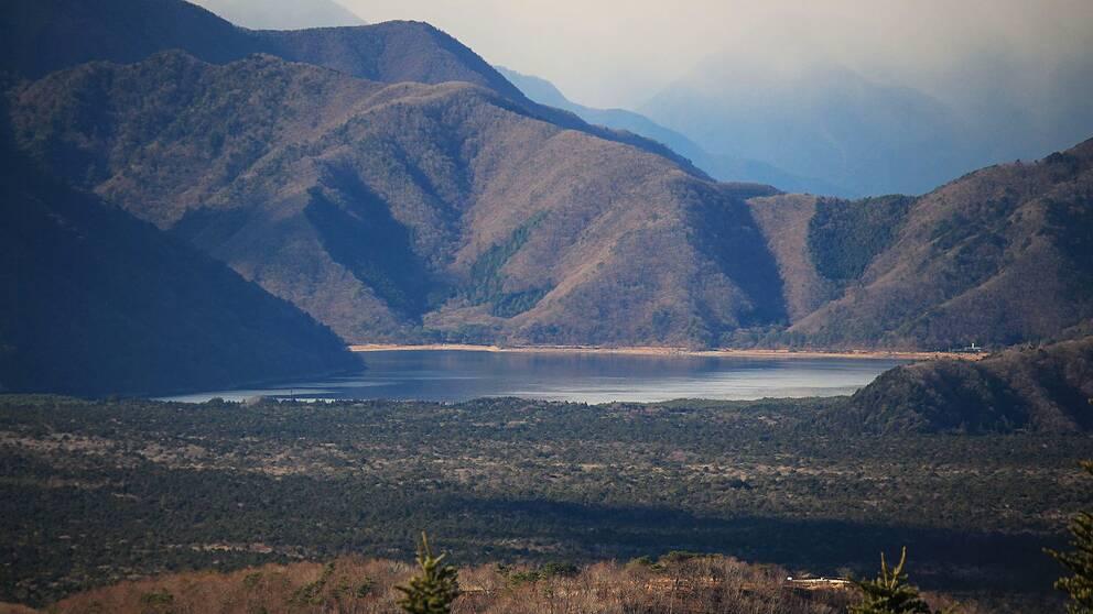 Motosusjön, vid Aokigaharaskogen.