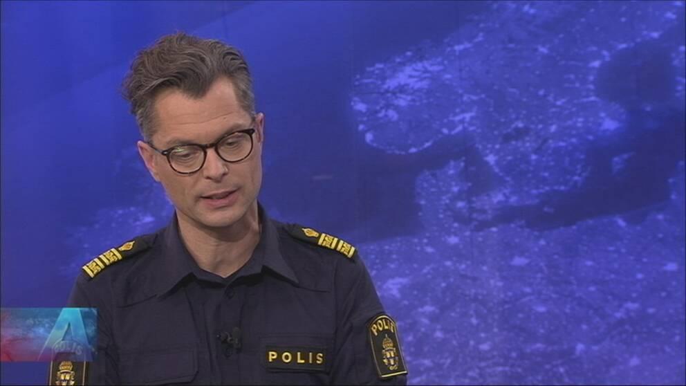 Jan Evensson, Polismästare region Stockholm, uttalar sig om våld i Stockholmsförorter.