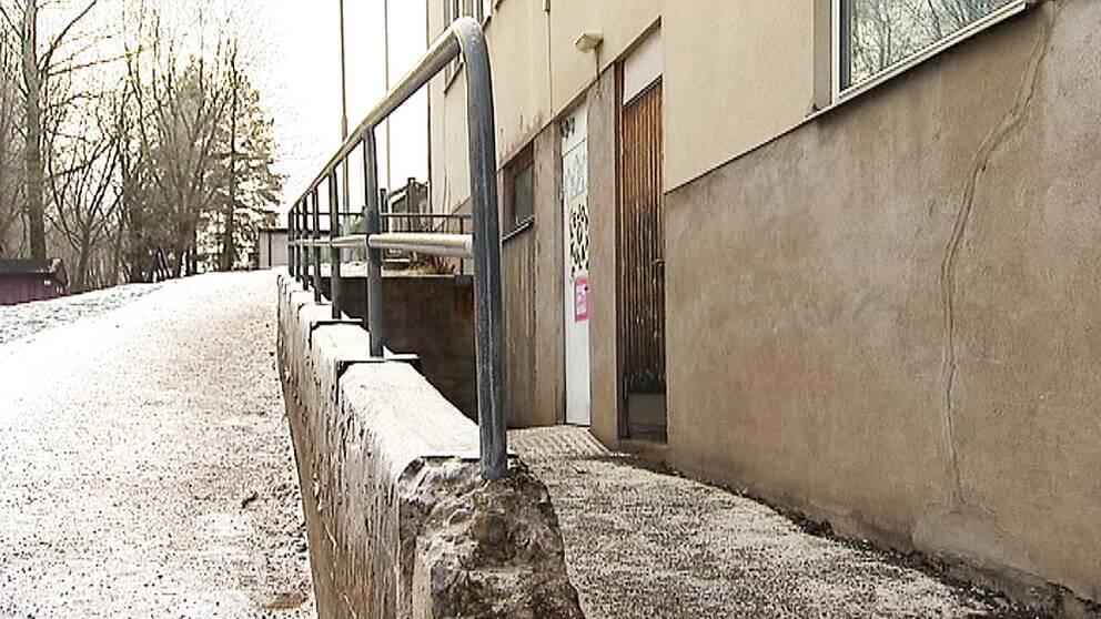 Den provisoriska förskolan ligger i en källarlokal
