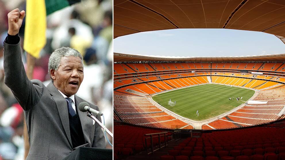 Många statsöverhuvuden väntas till minneshögtiden för Nelson Mandela på fotbollsstadion i Soweto den 10 december.
