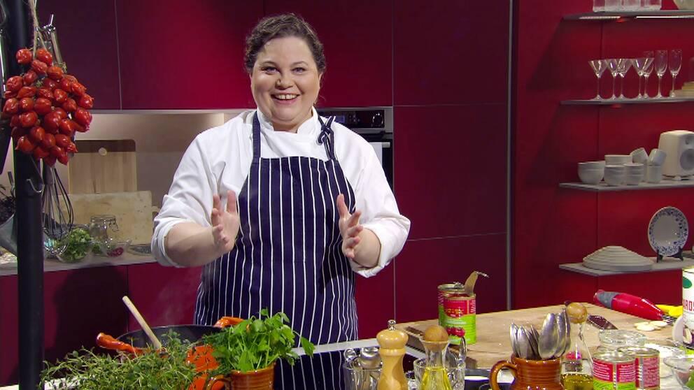 Kocken Susanne Jonsson i Go'kvälls kök.