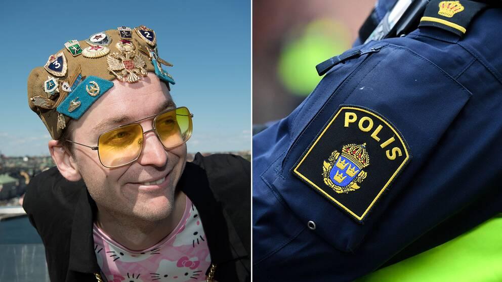 Polisen gjorde ingripanden mot 20 personer i publiken under Frej Larssons rättegångsfest.