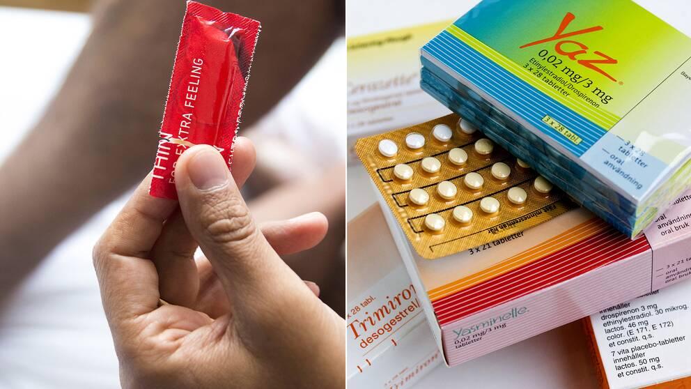 Kondom och p-piller
