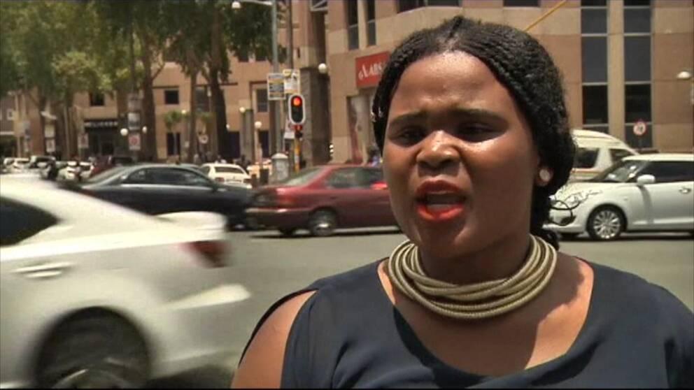 """Yolanda Dembula i Sydafrika tycker att President Trumps uttalande om """"shithole countries"""" är oerhört problematiskt."""