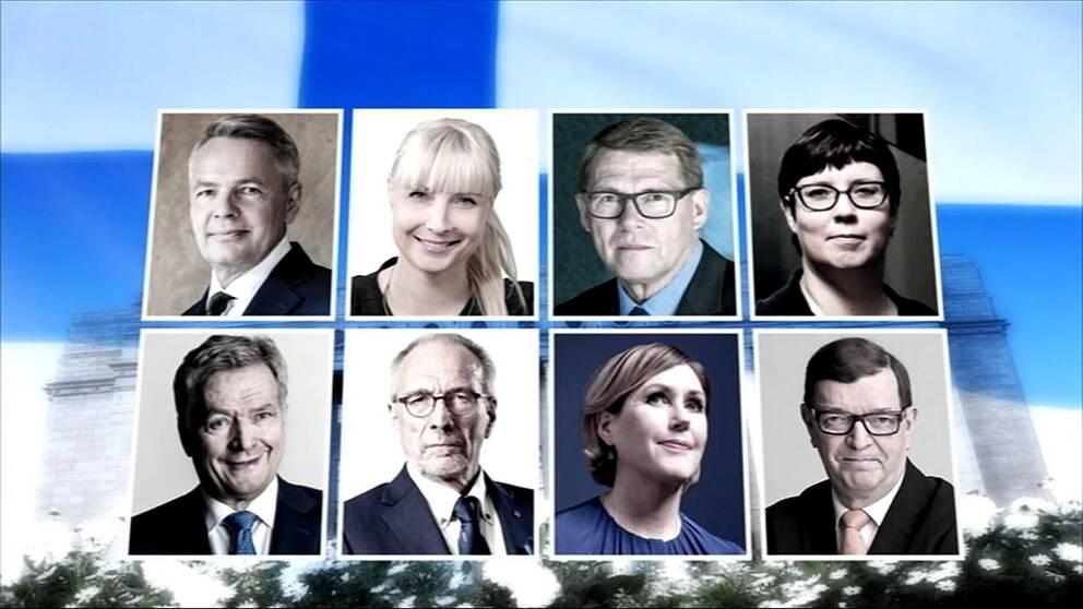 De finska presidentkandidaterna 2018