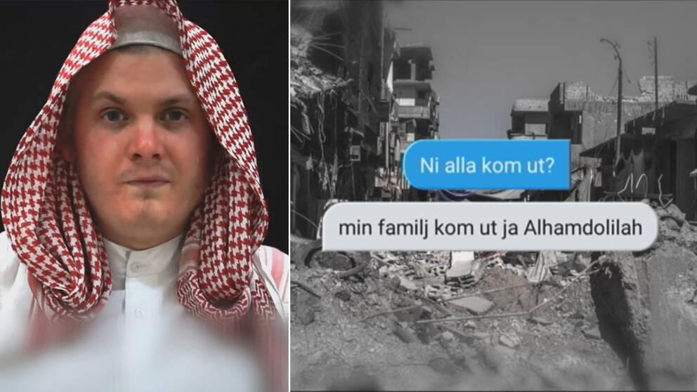 Sms från Skråmo bekräftar flykten från Raqqa